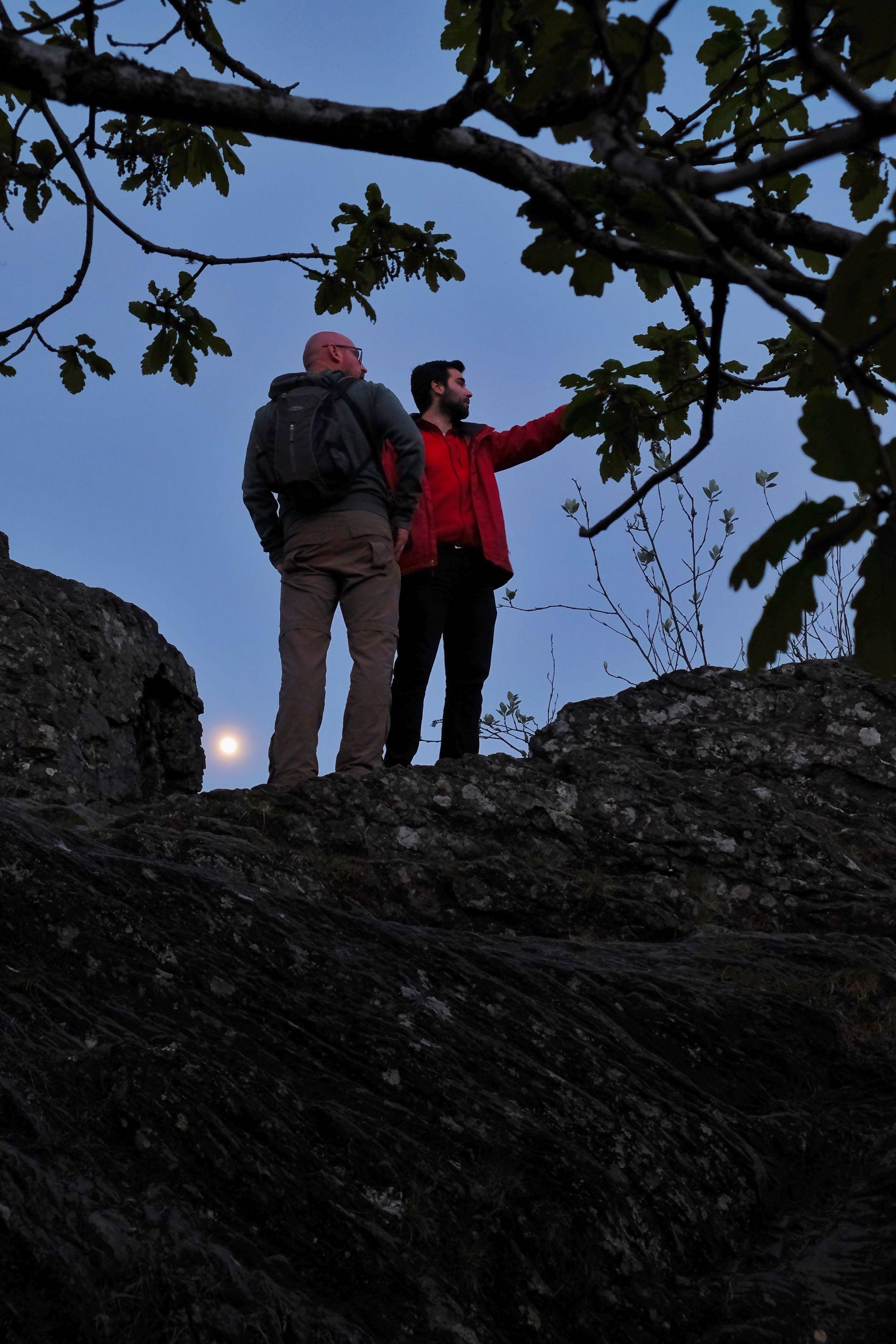 De rotswand van Le Hérou